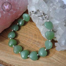 Jade Hearts Healing Bracelet